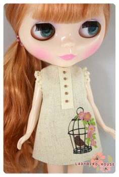 LADYBIRD HOUSE Blythe Outfit Zakka Dress D by bubufashion on Etsy, $22.00