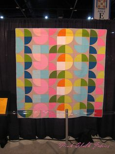 Quilt Market Fall 2012 - Modern Quilt Guild Display - 5-HTP Squared by Jennifer Carlton-Bailly