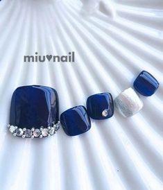 25 Trendy Nails Blue Grey Polish : 25 Trendy Nails Blue Grey P Blue Toe Nails, Blue Toes, Pretty Toe Nails, Gray Nails, Feet Nails, Blue Nail Designs, Beautiful Nail Designs, Grey Nail Art, Pedicure Nails