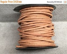 On Sale NOW 25%OFF 1.5mm BEST Quality European Leather Cord Natural 2 Yards by LRPJewelryBox - jewelry supplies - jewelry supply - jewelry making