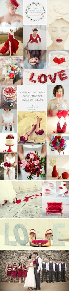 Red Wedding Inspirations, Ideas.