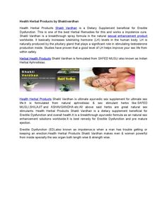Doc health herbal products by shaktivardhan