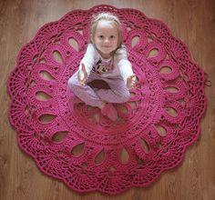 Szydełkowy dywan kwiat i gdzie bywałam jak mnie nie było:)