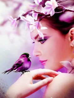 quenalbertini: A color splash Purple Rain, Purple Love, All Things Purple, Shades Of Purple, Purple Bird, Magenta, Purple Stuff, Periwinkle, 50 Shades
