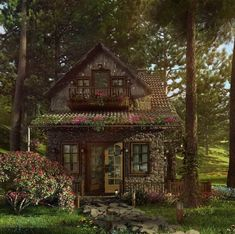 Future House, Beautiful Homes, Beautiful Places, Fairytale Cottage, Storybook Cottage, Cottage In The Woods, Cute Cottage, Witch Cottage, House Goals