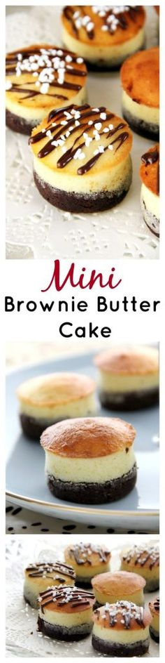 Mini Brownie Butter Cake