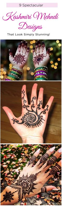 9 Spectacular Kashmiri Mehndi Designs That Look Simply Stunning!