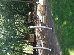 Ceremony, Haybale Seats for the wedding