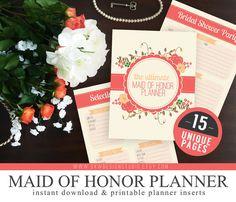 Maid of Honor Wedding Planner Book Wedding Organizer Bride and