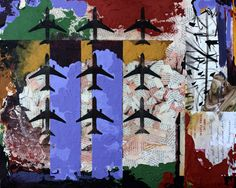 Twin Towers #49, 2012, Mixed media on canvas. ©2014 Mark Nobriga marknobriga.com All rights reserved.