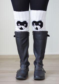 Cat Knit Knee socks, Knee warmers,