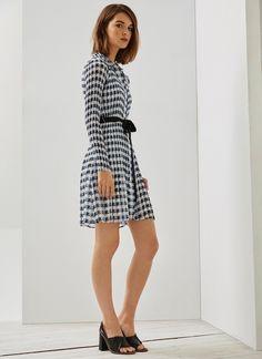 Vestido de crinkle con cinturón - Vestidos | Adolfo Dominguez shop online