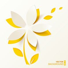 Find Yellow Cutout Paper Flower Vector Greeting stock images in HD and millions of other royalty-free stock photos, illustrations and vectors in the Shutterstock collection. Kirigami, 3d Paper Art, Cut Paper, Paper Cutting Art, Crepe Paper Flowers, Flower Paper, Quilling Designs, Paper Background, Vector Background