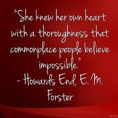 Self awareness, Howards End, E. M. Forster