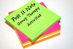post it note group therapy activities