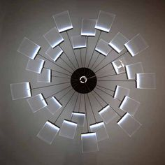 Unique design for a chandelier.  Love the indirect source.