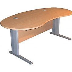 Modus Professional Cantilever Kidney Desk is premium quality commercial office furniture that is exclusively made in the UK. The robust MFC tops of these desks are 25 mm thick. These desks come with 2 circular cable ports and have a stylish kidney design. Choose from 5 wood colour finishes to complement your office theme.