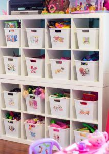 Get yourself organized on a budget with these 26 Cute and Thrifty DIY Storage So - balconydecoration.ga - Get yourself organized on a budget with these 26 Cute and Thrifty DIY Storage So - Organisation Hacks, Kids Room Organization, Organizing Ideas, Playroom Storage, Bedroom Storage, Organizing Kids Toys, Bedroom Toys, Kids Bedroom, Bedroom Furniture