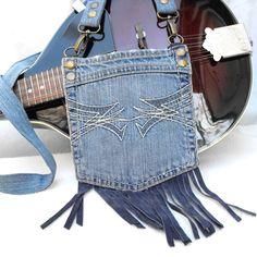 Mini messenger bag Burning Man festival purse funky by LiziRose