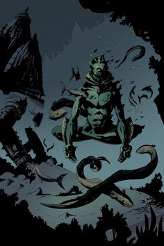 xombiedirge:  Abe Sapien by Mike Mignola,Juan Ferreyra, Saumin Patel Jim Pavelec Part of Multiversity Comics, 31 Days of Abe contest.