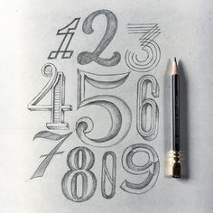 All kinds of numbers ✍️️ . . . . . . . #type #typography #goodtype #typedaily #typetopia #typespire #typegang #typematters #thedailytype #calligritype #lettering #handlettering #handmadefont #ligaturecollective #sketch #art #blackwing #mondays #lettering #numbers #design #designinspiration