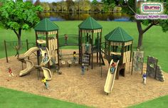 This is another example of a modern play ground. I mightincorporate some ideas from these aswell.