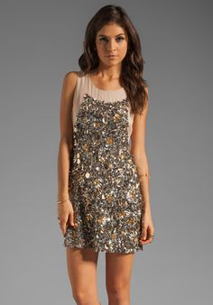 GRYPHON Confetti Dress in Nude