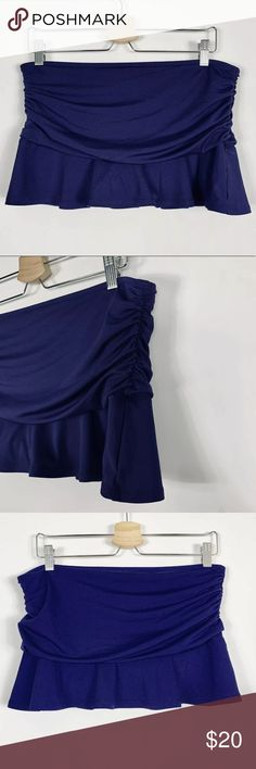 c6ac1271f6 Lands End Swim Skirt 10 Bottoms Pleated Ruching Women's Lands End swim skirt  size 10.