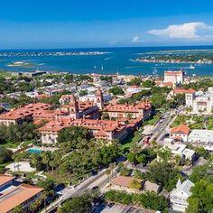 aerial-view-st-augustine-florida-STAUGUSTINE0521 Best Beach In Florida, Visit Florida, Florida Travel, Florida Beaches, Paducah Kentucky, San Antonio Missions, Beach Reading, Charlottesville, Beach Town