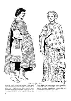 Byzantine Fashions 22 / Byzantine Fashions / Kids printables coloring pages