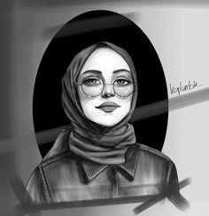 Girl Drawing Sketches, Drawings, Hijab Drawing, Girly M, Islamic Cartoon, Anime Muslim, Hijab Cartoon, Muslim Beauty, Islamic Girl