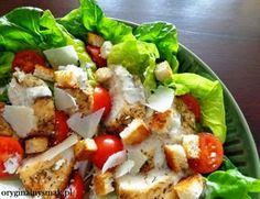 Sałatka Cezar Cobb Salad, Diet Recipes, Salads, Tacos, Chicken, Cooking, Ethnic Recipes, Food, Party