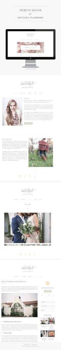 Website Design for Satchel Planning and Design | Branding | Brand Board | Logo…