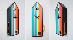 Color-House: Modern Take On A Traditional Cuckoo Clock   DigsDigs