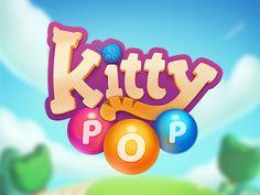 Kitty Pop Logo by Ilai Raz on Dribbble Portfolio Design, Portfolio Logo, Typography Logo, Logos, Lettering, Game Font, Game Logo Design, Logo Restaurant, Game Item
