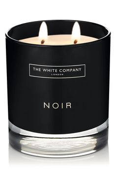 The White Company Noir Scented Candle, Size One Size - White Black Candles, Tea Light Candles, Votive Candles, Scented Candles, Tea Lights, The White Company, White Company Candles, Glass Wax, Candle Packaging