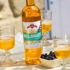 This Melonade is exceptional!  The artisan Eyguebelle distillery makes cordials and  liquors. (page 24) http://fr.calameo.com/read/000268657e2ab31839d9a