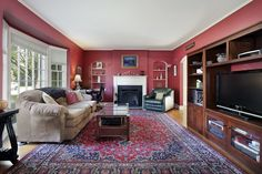 I like the red! I think I'll keep the red color scheme in my next living room...rather than buy new stuff.