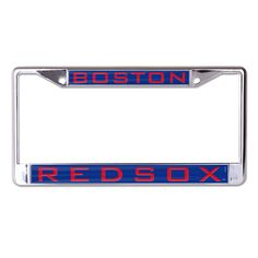 Boston Red Sox Metal License Plate Frame