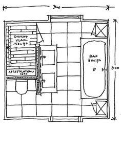 Badkamer ontwerp vierkant groot