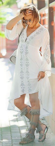 #boho #fashion #spring #outfitideas |Galant Girl Summer Boho Dress                                                                             Source