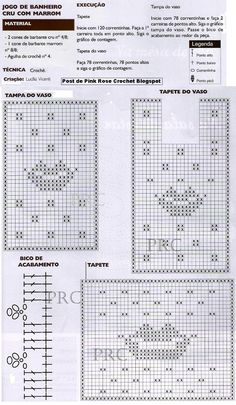 Tapete+Boca+Crochet+p+Banheiro+GR.JPG 906×1,555 píxeles