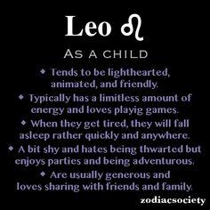 ZODIAC SIGNS AS A CHILD_Leo_Zodiac Society
