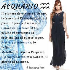Alla scoperta di un nuovo segno zodiacale... #Acquario #fashion #color #blue #dress
