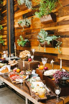 Stunning Hors d'oeuvre Display! More Wedding Inspiration on Style Me Pretty - http://www.StyleMePretty.com/2014/01/03/organic-glamour-inspiration-shoot-wiup/ Brklyn View Photography