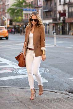 East Village  Blazer: J Crew 'Regent' | Denim: Paige | Shoes: Aquazzura | Bag: Pietro Brooklyn Blonde