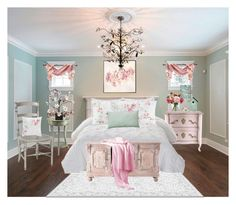 Cherry Blossoms by terry-tlc on Polyvore featuring interior, interiors, interior design, home, home decor, interior decorating, Home Decorators Collection, Redford House, Canopy Designs and Giclee Glow
