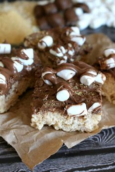 S'mores Rice Krispie Treats ~Guest Post~ Recipe on Yummly. @yummly #recipe