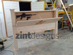 Custom Furniture with Hidden Compartments - Zint Designs - Custom Texas Furniture TX - Zombie Apocalyspe furniture