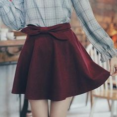 Bow-Accent A-Line Skirt from #YesStyle <3 Tokyo Fashion YesStyle.com